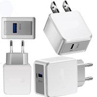 QC3.0 Rápido Charge Rápido Carregador de Parede US Reino Unido UE Power Adapter Plug para Samsung Galaxy S8 S10 Nota 10 HTC Android Phone PC
