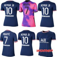 Kadınlar Futbol Forması 2021 2022 Paris Dördüncü Ev Uzakta Mavi Beyaz Verratti Cavani Mbappe 21 22 Bayanlar Futbol Gömlek Di Maria Kız Üniformaları En Kaliteli