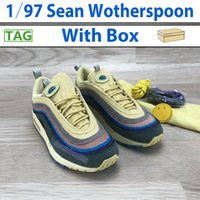 Новые 97S SEAN WOTESPOOON SW Мужчины кроссовки Top Women Vivid Sulfur Multi Yellow Blue Hybrid мужские спортивные кроссовки кроссовки US 5.5-12