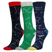 Новинка счастливых смешных взрослых мужчин графические носки печатает лоскутное прекрасное среднее туда носки дома спортивные чулки носок рождественские подарок1