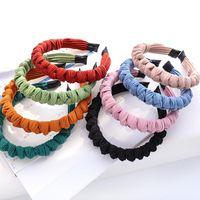 Hair Accessories Bohemian Solid Color Hairband Winter Weaving Knot Headband For Women Cross Handmade Hoop