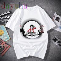 Футбольные трикотажные изделия One Piece T рубашка мужчин Harajuku мультфильм 2021 хип-хоп Япония аниме футболки 90-х