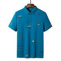 جودة ذات نوعية جيدة جدا قمصان رجالية الأعمال الاتحاد الأوروبي مصمم كبير الأكمام تنفس لينة ملابس الصيف D1099 بولو