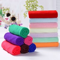 Polyester 30*60CM 12*24INCH Microfiber Kitchen Towel Soft Anti-Grease Lint Free Wiping Rags Quick Dry Hair Towels Home Glass Car Cleaning Wipe Cloth HY0160