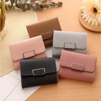 "WOMENS BRAND BAG LOUIS""VITTON DESIGNER Iit5 Small Wallets Mini Version And Money Short Japanese Korean Thin Bag Fresh Wxmtb"