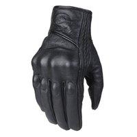 Five Fingers Gloves Motorcycle Men Women Moto Leather Carbon Cycling Winter Motorbike Motorcross ATV Motor