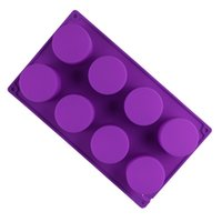 Форма для выпечки торта чашки в форме чашки Ручная мышь силиконовые формы восемь кругов льда кубик DIY инструмент не токсичный высокотемпературный сопротивление CCF6966