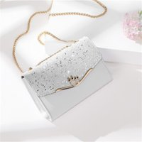 Fashion Messenger Bags Female New Summer Small Square Wild With Diamonds Mini Chain Woodpecker Pattern Genuine Leather Bestselling Favorite Shoulder Bag