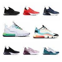 AIR MAX 270 REACT shoes  27C CNY RAINBOW 2.0 3.0 Deuxième génération Triple Blanc Blanc Photo Boule à peine rose Rose Rose Femmes Sneakers de jogging Chaussures de jogging