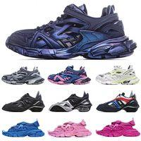 [Con scatola]Balenciaga Track 4.0 retro old shoes running shoes Balenciaga 5.0 tyrex Sneaker Bicol Or Rubber/Mesh/Not Wash Black Velcro sandals