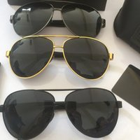 Солнцезащитные очки мужская большая рама весна лето осень зима поляризованная вождение классический черный золотой модный тренд
