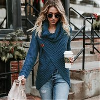 Women's Sweaters Fashion Autumn Winter Women knit Turtleneck Cardigans Casual Loose Solid Long Sleeve Ladies Thick Open Stitch FBL