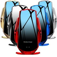 10W Q6 автомобиль беспроводное зарядное устройство воздуха вентиляционное крепление держатель зарядных устройств адаптер для iPhone Samsung Android телефон с коробкой