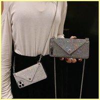 Fashion Iphone Case Designers Cell Phone Cases 13 Pro Max Luxurys Phones Wallet Bag Rhinestone Case 12 11 X Plus 7 8 Mens Women Phone Covers