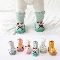 Socks Cartoon 3D Animals Baby Non-slip Rubber Sole Born First Walkers Shoes Christmas Elk Infant Toddler Boy Girl Floor
