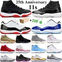 2021 neue High OG Top 11 11s Jumpman Herren-Basketball-Schuhe Low 25th Anniversary Concord 45 Ovo Bred Frauen-Sport-Turnschuhe Größe 36-47