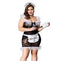 Lingerie Grande grasso signora daid uniforme uniforme set plus size stile cosplay per le donne porno erotico caldo