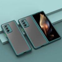 TPU Yumuşak Darbeye Dayanıklı Telefon Kılıfı Samsung Galaxy Z Katlama 2 5g Case Accesories Mat Katı Renk Ultra-ince Tam Koruyucu Funda