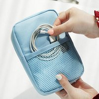 Toiletry Kits Creative Shockproof Travel Digital USB Charger Cable Earphone Case Makeup Cosmetic Organizer Accessories Bag Pouch