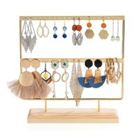 Hooks & Rails Necklace Stand Wooden Boards Earrings Ear Studs Stander Jewelry Organizer Display Showcase For Pendant