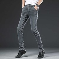 jeans 2021 Style Fashion Male Lent Slim Fit Casual  Men Katoen High Quality Straight Potlead Broek Hair Broek For Men