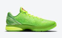 2021 أصدرت أصيلة عيد الميلاد 6 بروتو غرينش مامبا أحذية التحدي الأحمر ASG كل ستار الأخضر أبل فولت قرمزي أسود الرجل الرياضة أحذية رياضية مع المربع الأصلي