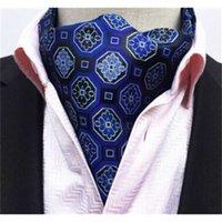 Paisley Cravat 패션 스카프 럭셔리 남성 결혼식 공식 Cravat 영국 스타일 신사 실크 스카프 목 넥타이 정장 스카프 비즈니스 넥타이