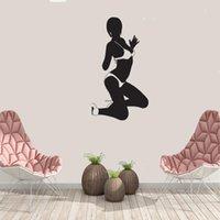 Wall Stickers Bikini Girl Silhouette Sticker Sexy Beauty Decal Home Decor For Salon Bedroom Art Mural Dw20512