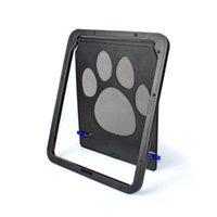 Casas de perros Accesorios de perreras 24x29 cm Patrón de huella PET PET CAT Puertas Puertas Rampas Ventana Suministros de pantalla