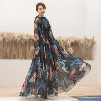 Casual Dresses Tropical Long Sleeve Floral Holiday Beach Bridesmaid Maxi Dress Sundress Plus Size Party For Women
