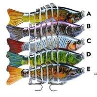 Balıkçılık Lures Wobblers Swimbait Crankbait Sert Yem Yapay Mücadele Gerçekçi Lure 7 Segment 10 cm 15.5g HWD7360