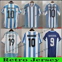 78 86 Maradona Retro Messi Soccer Jersey Classic 96 97 94 9 14 Newells Camisa de futebol vintage Riquelme Crespo Tevez Ortega Batistuta Kempes Clássicos Unifom
