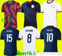 2021 Соединенные Штаты Футбол Джерси 2022 America Pulisic Dest Mckennie Reyna Adams Weah Musah Ertz Bradley Pugh Lloyd AltiDore 21 22 US Men +