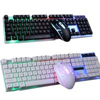 Combo PC Gamer LED Gaming Keyboard And Mouse Set Wired 2.4G 103F Keyboards