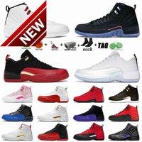 MensBasketballShoes Mens Shoes 12 12s Low Easter Twist Flu Game University Red Jumpman UNC Court Purple Racer Blue Cool Grey Men Sports