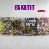 Boş Esketit Yerler Ambalaj Mylar Çanta 4 Türleri 400 mg Crunch Çilek Reese Kakao Puffs Klasik Trix Gummies Paketleme Çantası Koku Geçirmez Fermuar Kılıfı Paketi Baggies