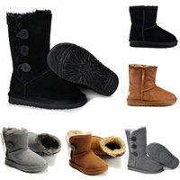 2021 Nuova moda vari stili di stivali da interno in pelle stivali da uomo e da donna Scarpe da donna Snow 27-35