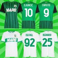 20 21 Sassuolo Fussball Jerseys 100. Hundertjähriger Berardi Boga Locatelli 2021 Zuhause Maglietta Calcio Traore Football Hemden Uniform