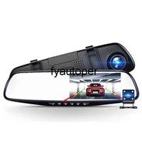 Car Dvr Camera Auto 4.3 Inch Rearview Mirror Dual Lens Car DVR Cameras Full HD 1080P DVRs Registrator Dash cam Camera corder