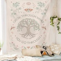 Tapestries Lifetree Tapestry Wall Hanging Boho Mountain Abstract Mountains Art Bedroom Dorm Room Sun Moon DecorTapestries
