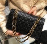 7A + klassieke flap luxe CF merk tas koeienhuid handtas dames portemonnee gouden ketting schoudertassen dwars lichaam, officieel origineel geïmporteerd echt leer