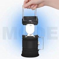 휴대용 태양 조명 캠핑 텐트 LED 램프 야외 방수 비상 조명 USB 충전식 램프 랜턴 손전등 3 색