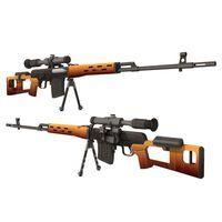 1: 1 skala svd sniper gevär pistol modell papercraft leksak diy 3d papper kort militär modell handgjorda leksaker för pojke gåva