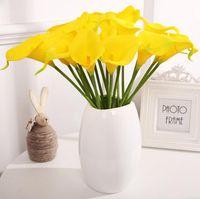 Красочные искусственные Calla Лили цветок Real Touch Deallate PU Мини Callas Лилийс Букет для дома Свадебная вечеринка Украшение OOD6392