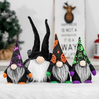 Halloween-Zwerge Plüsch Fachlose Puppe, handgefertigte schwedische Gnome Tomte Puppen für Home Party Tischdekoration