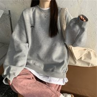 Hoodies Sweatshirts Women Pullover 2021 Pattern Streetwear Casual Long Sleeve Crewneck Oversized Fashion Hoodie Korean Girls S-xxl