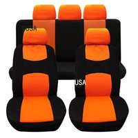 (Front + Rear) Universal GUSA Car Seat Covers For Mitsubis All Models ASX Outlander Lancer Pajero Sport Dazzle
