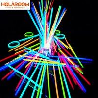100 шт. Party Флуоресцентный свет светло-палочки браслеты ожерелья неоновые для свадебных вечеринок светятся палочки красочные свечения палку 50 шт.