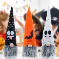 Decoración de fiesta fantasma Dibujos animados Halloween Braiding Dwarf Doll Colgante con luces Luminoso resplandor en la oscuridad para el ornamento del festival Gyq