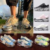أعلى جودة أزياء النسالة الرجال النساء raf سيمونز عارضة الأحذية Ozweego III الرياضة clunky المعدنية أحدث لون الفضة السائل بابا حذاء حذاء